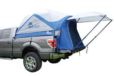 Why camp in an ordinary ground tent or an expensive RV, when you can camp right in the back of your truck. The Sportz Truck Tent assembles in the back of your o Tent Camping Beds, Truck Camping, Camping And Hiking, Family Camping, Camping Gear, Camping Hacks, Camping Equipment, Van Camping, Camping Stuff