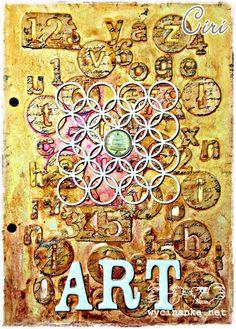 Art journal mixed media cover