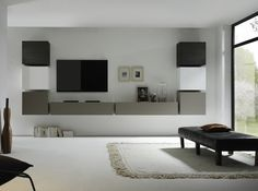 Living room furniture Modern high gloss - Best Home Decorating Ideas - How To Design A Room - homehomedecor Living Room Wall Units, Living Room Furniture, Home Furniture, Tv Wall Design, Tv Unit Design, Support Mural Tv, Support Tv, Wall Cubes, Modern Wall Units
