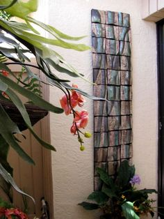 'Bamboo in the Garden'  This long narrow Bamboo Mural now adorns the beautiful outdoor garden of this home.