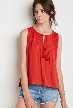 Southwestern Pattern Embroidered Top | Forever 21 - 2000076705