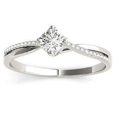 Transcendent Brilliance 14k Gold 1/4ct TDW Diamond Twisted Split Shank Engagement Ring (G-H, VS1-VS2) (