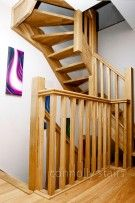 Oak Open Riser Attic Stairs Ireland by Connolly Stairs, Quality Staircases in Dublin and Irish. Oak Stairs, Attic Stairs, Types Of Stairs, Dublin, Ireland, Home Decor, Interior Design, Home Interior Design, Irish