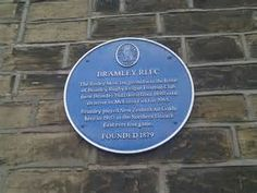 ... Rugby League Football Club blue plaque in Leeds | Blue Plaque Places