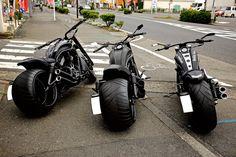 Tres maravilhosas Harley-Davidson
