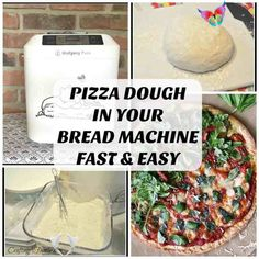 Homemade Bread Machine Pizza Dough - Craftingafamily.com Homemade Bread Machine Pizza Dough - Craftingafamily.com<br>