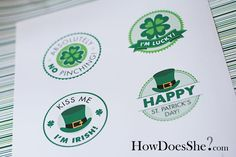 St Patrick's Day Free Printable Circles ~ So many uses, check out her Pics!