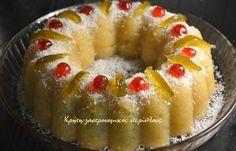 χαλβας με ινδοκαρυδο Doughnut, Easy Crafts, Muffin, Pie, Pudding, Sweets, Bread, Vegan, Breakfast