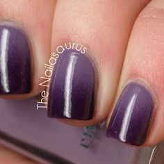 Purple Gradient Nail Art