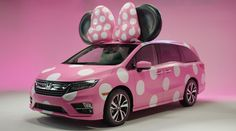 "Disney and Honda have partnered up to reveal the 'Minnie Van' -- a pink clad, polka-dot vehicle that's complete with big ears and a bow to pay homage to the beloved Minnie Mouse. The 2018 Honda Odyssey received a ""Minnie Makeover"" for this year's D23 Expo"