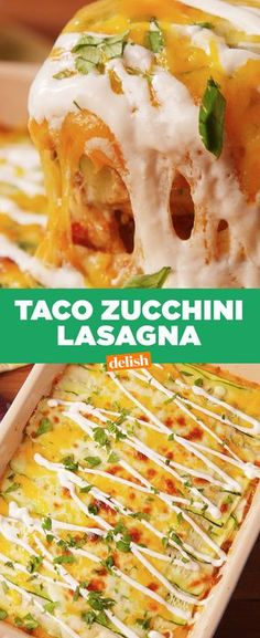 Taco Zucchini Lasagna is the low-carb dinner you'll actually crave all week. Get the recipe from Delish.com.