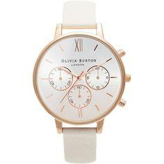 Elegante & cremefarbene Uhr - http://stylefru.it/s95284