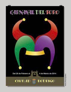 Propuesta diseño cartel para el Carnaval del toro de Ciudad Rodrigo por grafias.