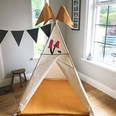 I was asked to make a bright cheerful playmat to go with this teepee and I think the gorgeous mustard colour just works beautifully. See website for more designs : link in bio -