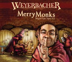 Weyerbacher Brewing Co - Merry Monks Belgian Style Tripel Ale (6 pack bottles)
