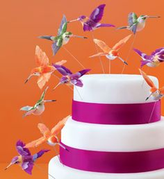Brides Magazine: Creative Wedding Cake Toppers : Wedding Cakes Gallery