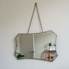 Vintage bevelled edge mirror on chain mid Century by byBenShop Mirrors With Chains, Beveled Edge Mirror, Mid Century, Etsy, Vintage, Home Decor, Decoration Home, Room Decor, Vintage Comics