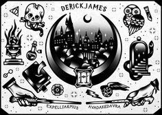 Deathly Hallows For All! Derek James art I REALLY like the stabbed diary...