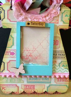 Sa Crafters Baby dress chipboard album by Kim