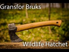 Gransfor Bruks Wildlife Hatchet--In use Review - Using a hatchet to break down firewood.
