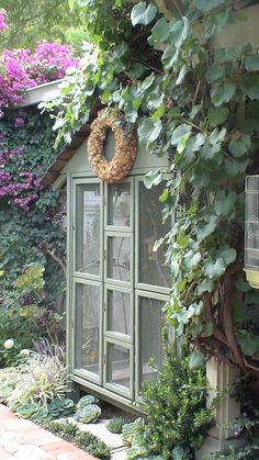 There are many ways to use your garden shed other than for gardening. Potager Garden, Greenhouse Gardening, Garden Pots, Edible Garden, Backyard Sheds, Outdoor Sheds, Outdoor Gardens, Outdoor Spaces, Love Garden