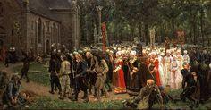 Jules Breton, Le Pardon de Kergoat,1891
