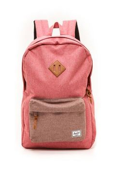Heritage Backpack from Herschel Supply Company in Red and Rust Crosshatch