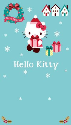 Hello Kitty Hello Kitty Shoes, Hello Kitty Art, Hello Kitty Pictures, Hello Kitty Items, Sanrio Hello Kitty, Here Kitty Kitty, Hello Kitty Christmas, Christmas Cats, Christmas Greetings