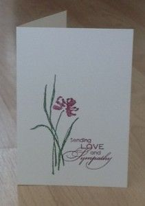Love and Sympathy stampin up