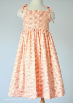 A free sundress pattern (made from a sheet). In Orange. - Simple Simon and Company