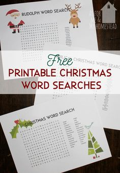 Christmas word search puzzles are a fun, educational holiday activity. 3 free word search printables here: Rudolph, Biblical, and generic Christmas. Christmas Word Search, Christmas Words, Christmas Games, All Things Christmas, Christmas Crafts, Christmas Recipes, Christmas Holiday, Christmas Ideas, Christmas Giveaways