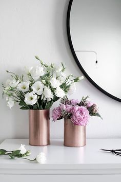 DIY copper vases
