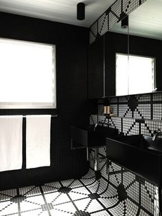 white geometric tile
