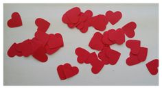 Red Heart Punch Out. Paper Goodies