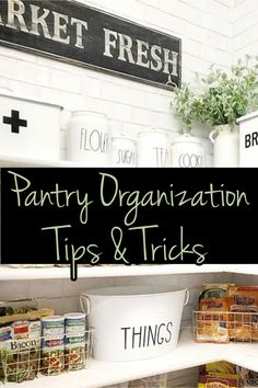 Pantry Organization Tips & Tricks Organized Pantry, Pantry Organization, Pantry Ideas, Kitchen Pantry, Declutter, Easy Diy, Home Improvement, Simple, Tips