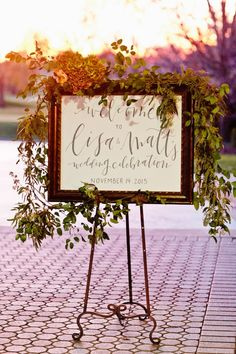 Featured Photographer Candra Eldridge Wedding Ceremony Idea Welcome Board Bohemian Chic Weddings