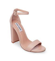Chunky heel sandal Sandals in Leather | Steve Madden chunky comfortable heel sandal shoes
