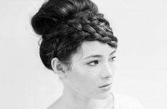 Romantic Braided Hairstyle. Photo by Tec Petaja Photo