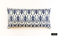 ON SALE Quadrille China Seas Lockan Pillow in Navy/Blue (12 X 24-Both Sides) Only 1 Pillow Remaining at this Sale Price