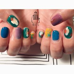 ▪○ #nail#art#nailart#ネイル#ネイルアート#colorful#nuance#paint#絵画風ネイル#ネイルサロン#nailsalon#表参道#colorful111 #nuance111#絵画ネイル111