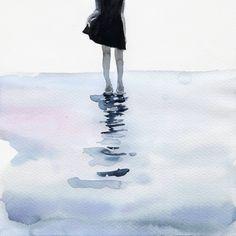 all around the sea Art Print by Agnes-cecile Tempera, Silvia Pelissero, Agnes Cecile, Framed Art Prints, Canvas Prints, Indie, Grunge, Watercolor Sketch, Watercolor Pencils