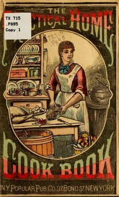 """The Practical Home Cook Book"" (1882) Published By New York Popular Publishing Company"