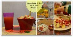 Ensalada de fruta en el taller