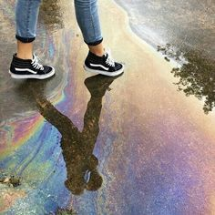 rainbow, grunge, and vans image