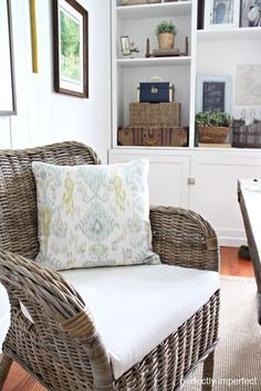 LOVE this woven chair: IKEA Byholma collection, just $80...for the bedroom corner and could also take it out on the deck to read