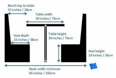 How much space you need for a banquette