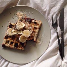 Choc Chip Banana Bread Waffles