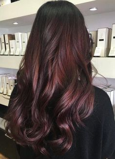 Burgundy Hair Color Ideas: Best Hairstyles For Maroon Hair (August . Burgundy Hair Color Ideas: Best Hairstyles for Maroon Hair (August . Hair Color Ideas burgundy and black hair color ideas Dark Burgundy Hair Color, Maroon Hair Colors, Hair Color For Black Hair, Burgundy Balayage, Dark Maroon Hair, Red Color, Maroon Color, Dark Red Hair With Brown, Cherry Hair Colors
