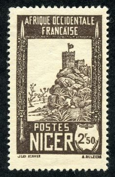 """1921 Scott 14 blue & olive brown """"Camel and Rider"""" On stamps of Upper Senegal and Niger, Type of overprinted Quick History . Old Stamps, Vintage Stamps, French West Africa, Stamp Collecting, Vintage Posters, Vintage World Maps, French Colonial, Ephemera, Stamping"""