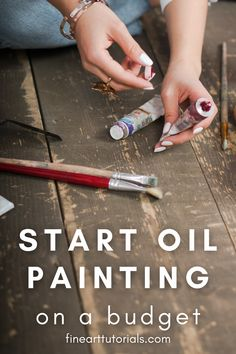 How to get started with oil painting when you're on a budget. Like any new hobby, oil painting requires a small investment in some essential supplies to get started. The most expensive thing to buy will be the paint itself, then you will need to get a few other inexpensive essentials. This guide will show you how to choose fewer materials that you will get the maximum use out of, without compromising on quality. #oilpainting #oilpaint #budgetoilpainting #artsupplies #budgetartsupplies #art